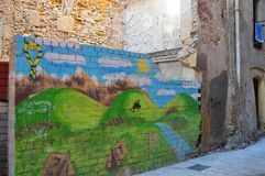 Tarragona gatasikt på Juni 20, 2016 i Tarragona, Spanien Royaltyfri Fotografi