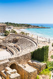 Tarragona. The Historical amphiteather of Tarragona Stock Images