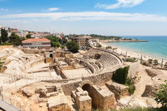 Tarragona. Historical amphitheater of Tarragona, Costa Dorada Stock Photo