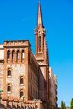 TARRAGONA HISZPANIA, MAJ, - 1, 2017: Fasada monaster Karmeliccy ojcowie kosmos kopii pionowo zdjęcia royalty free