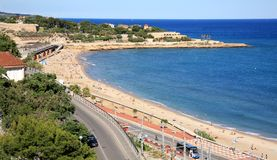 Tarragona kust i Catalonia Spanien Arkivbilder