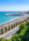 Tarragona kust som ser södra Fotografering för Bildbyråer
