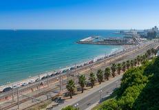 Tarragona kust som ser södra Royaltyfri Foto
