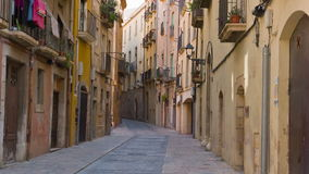 Tarragona old town, Catalonia, Spain. Tarragona City in Catalonia, Costa Daurada, Spain, shot in RAW 4K stock footage