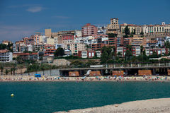 Tarragona rises from the sea Stock Image