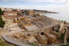 Tarragona roman amfiteater Arkivfoton