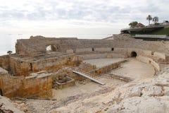 Tarragona roman amfiteater Arkivbild