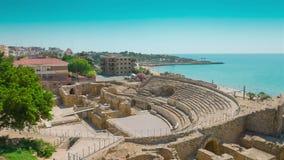 Tarragona, Roman Amphitheater, Costa Daurada, Catalonia video estoque