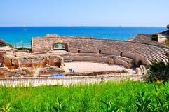 Tarragona Roman Amphitheater, Espanha imagens de stock royalty free