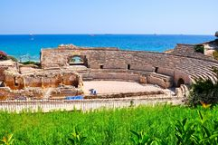 Tarragona Roman Amphitheater, Spanje royalty-vrije stock afbeeldingen