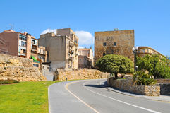 Tarragona's Roman circus and Torre de Pilats Stock Photo