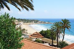 Tarragona seaside. And beach, Spain royalty free stock images