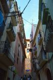 Tarragona smal gata på Juni 20, 2016 i Tarragona, Spanien Royaltyfri Bild