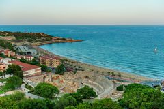 Tarragona, Spain. Ariel view on Tarragona, Spain Stock Photography