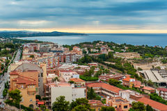Tarragona, Spain. Ariel view on Tarragona, Spain royalty free stock photography