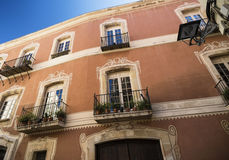 Tarragona (Spain): Castellarnau house. Tarragona (Catalunya, Spain): facade of house Castellarnau Royalty Free Stock Photos