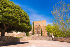 TARRAGONA, SPAIN - MAY 1, 2017: Ancient building, Roman heritage, Torre del Pretori tower. Copy space. Space for text. TARRAGONA, SPAIN - MAY 1, 2017: Ancient Royalty Free Stock Images