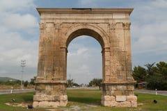 Triumphal arch of Augustus. TARRAGONA / SPAIN - SEPTEMBER 2014: Triumphal arch of Augustus near Tarragona, Spain Stock Photos