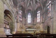 TARRAGONA, SPANIEN - 4. OKTOBER 2017: Innenraum der Kathedrale der Tarragona-Katholisch-Kathedrale Kopieren Sie Raum für Text Lizenzfreie Stockfotos