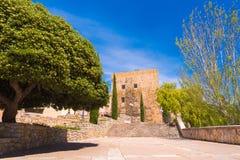 TARRAGONA, SPANJE - MEI 1, 2017: De oude bouw, Roman erfenis, Torre del Pretori toren De ruimte van het exemplaar Ruimte voor tek Royalty-vrije Stock Afbeeldingen
