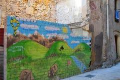 Tarragona-Straßenansicht am 20. Juni 2016 in Tarragona, Spanien Lizenzfreie Stockfotografie