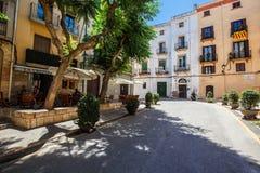 Tarragona straat in de middag Royalty-vrije Stock Fotografie