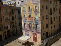 Tarragona street art royalty free stock photo