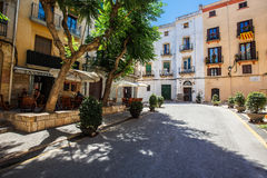 Tarragona street in the midday. 1th august 2013 royalty free stock photography