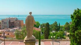 Tarragona, widok na morzu śródziemnomorskim, Costa Daurada, Catalonia Hiszpania zdjęcie wideo