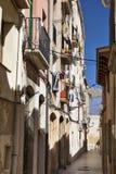 Tarragona & x28; Spain& x29; stara ulica Zdjęcie Royalty Free