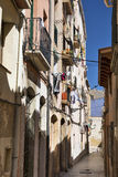 Tarragona & x28; Spain& x29;: vecchia via Fotografia Stock Libera da Diritti