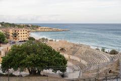 Tarragone et x28 ; Spain& x29 ; : Amphiteater romain Photographie stock libre de droits