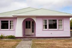 Tarraleah village Tasmania. Tarraleah, Australia-February 9, 2013. Historic weatherboard cottages in the highlands township of Tarraleah, originally built as stock images