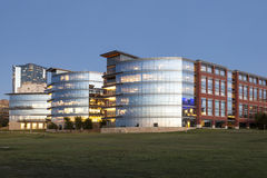 Tarrant County College at dusk. Fort Worth, Tx, USA Royalty Free Stock Photo