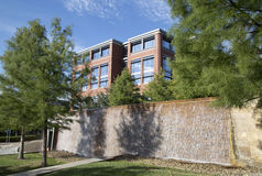 Tarrant County högskolauniversitetsområde i staden Fort Worth arkivfoton