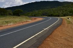 Tarred road curve Royalty Free Stock Photos