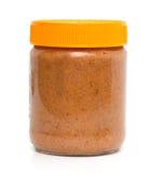 Tarro cerrado de mantequilla de cacahuete Imagen de archivo libre de regalías