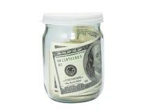 Tarro con el dinero Fotos de archivo