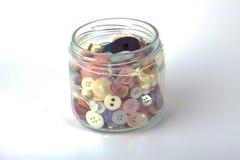 Tarro de botones Foto de archivo