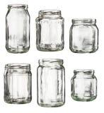 Tarro de cristal vacío fotografía de archivo