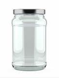 Tarro de cristal vacío Fotografía de archivo libre de regalías