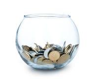 Tarro de dinero aislado Imágenes de archivo libres de regalías