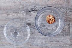 Tarro de galletas de cristal fotos de archivo libres de regalías