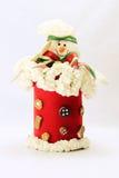 Tarro de galletas en blanco Imagen de archivo