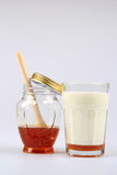 Tarro de Honey And Milk Fotografía de archivo libre de regalías