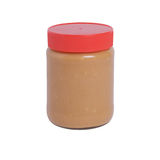 Tarro de la mantequilla de cacahuete Foto de archivo libre de regalías