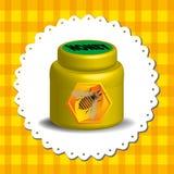 Tarro de la miel Fotografía de archivo libre de regalías