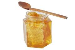 Tarro de la miel Foto de archivo