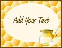 Tarro de la miel con la manzana Fotografía de archivo