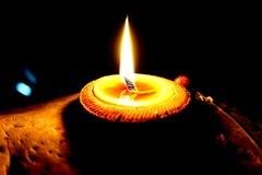 Tarro de la vela Fotografía de archivo libre de regalías
